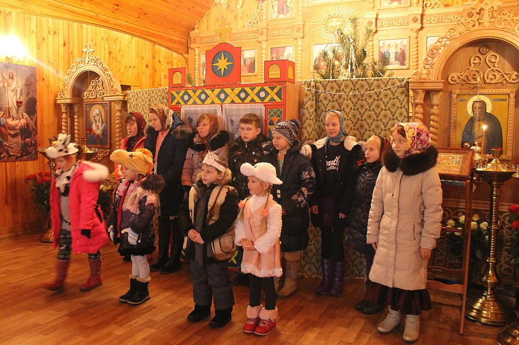 Рождественский детский праздник в Серафимовском храме села Акатьево